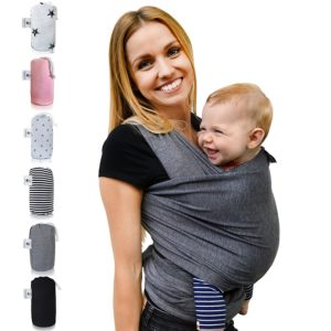 Fastique Kids® Babytragetuch - elastisches Tragetuch für Früh- und Neugeborene Kleinkinder - PLATZ 4